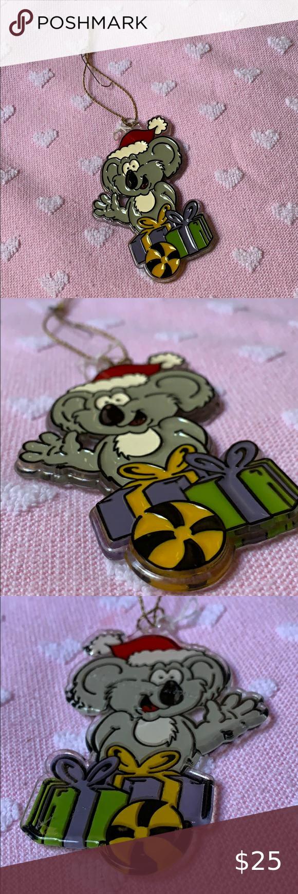 "3.5"" koala 🐨 hard plastic Christmas tree ornament in 2020"