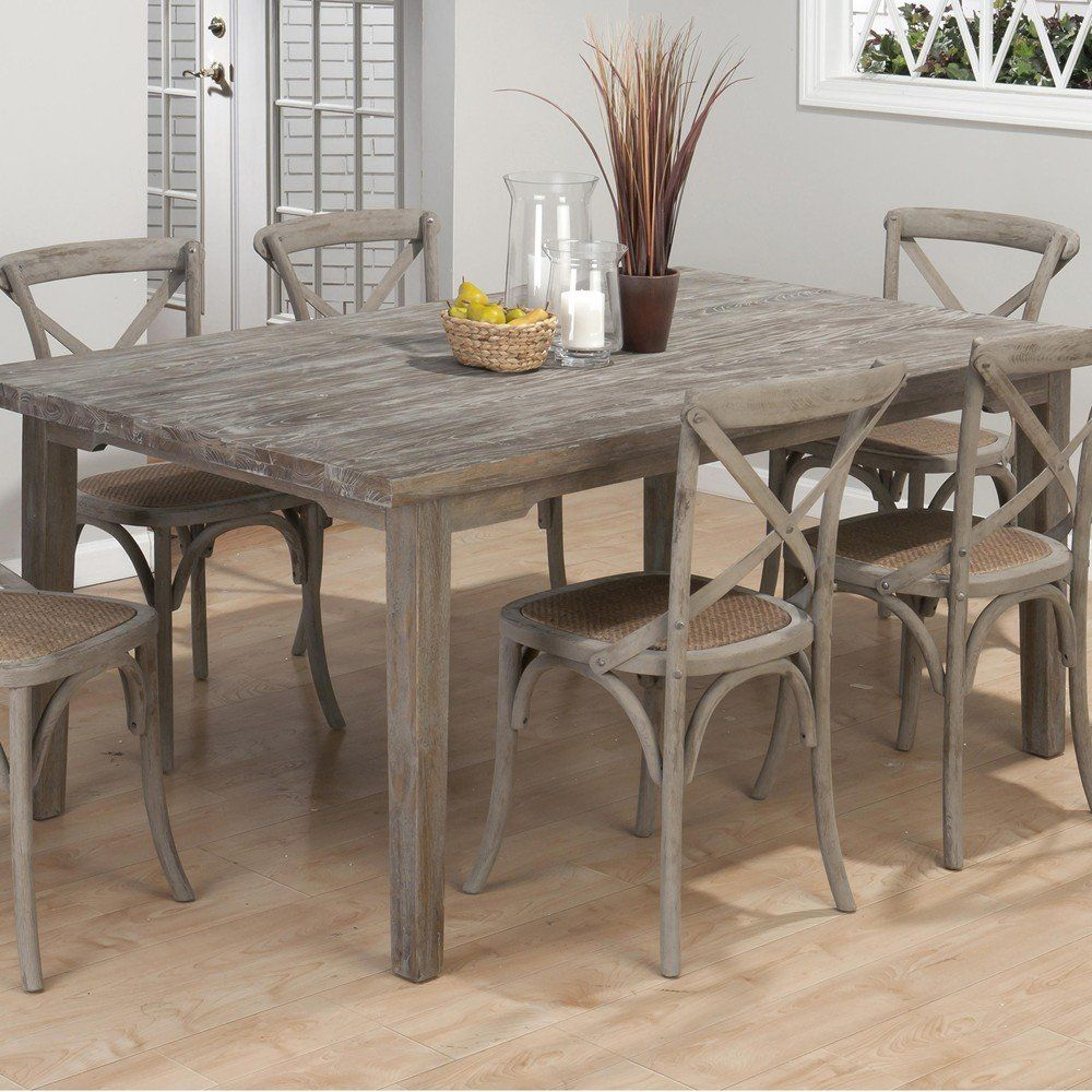 Burnt Grey Coastal Rectangle Dining Table. The Burnt Grey