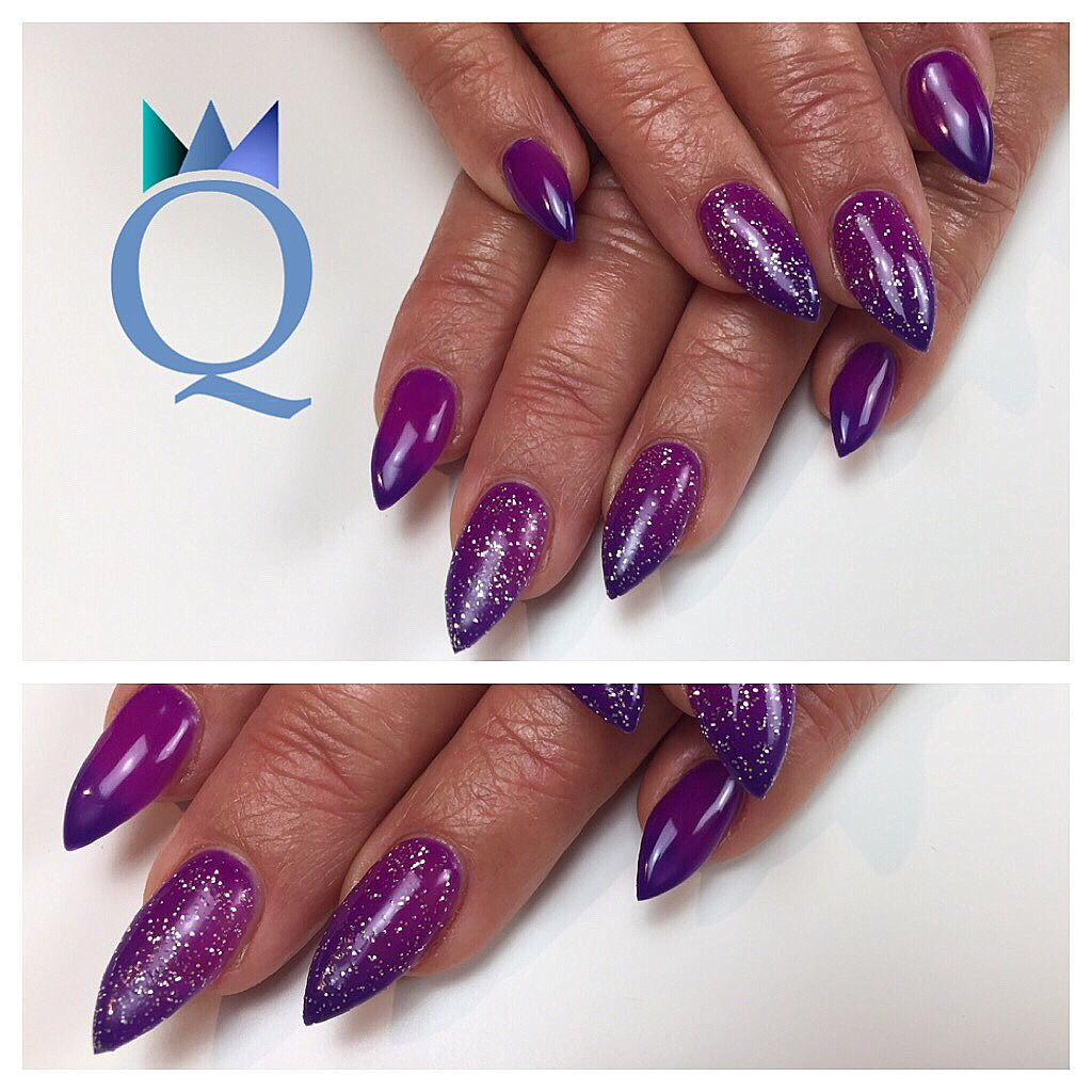 babystilettos #acrylicnails #nails #purple #pink #colorchanging ...