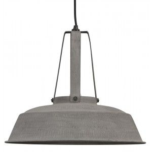 grande suspension industrielle m tal effet b ton luminaires pinterest. Black Bedroom Furniture Sets. Home Design Ideas