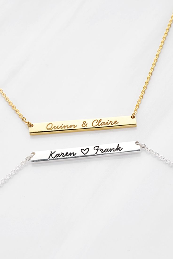 Gold Plated Name Necklace KAREN Pendant Personalised Gift Ideas For Her