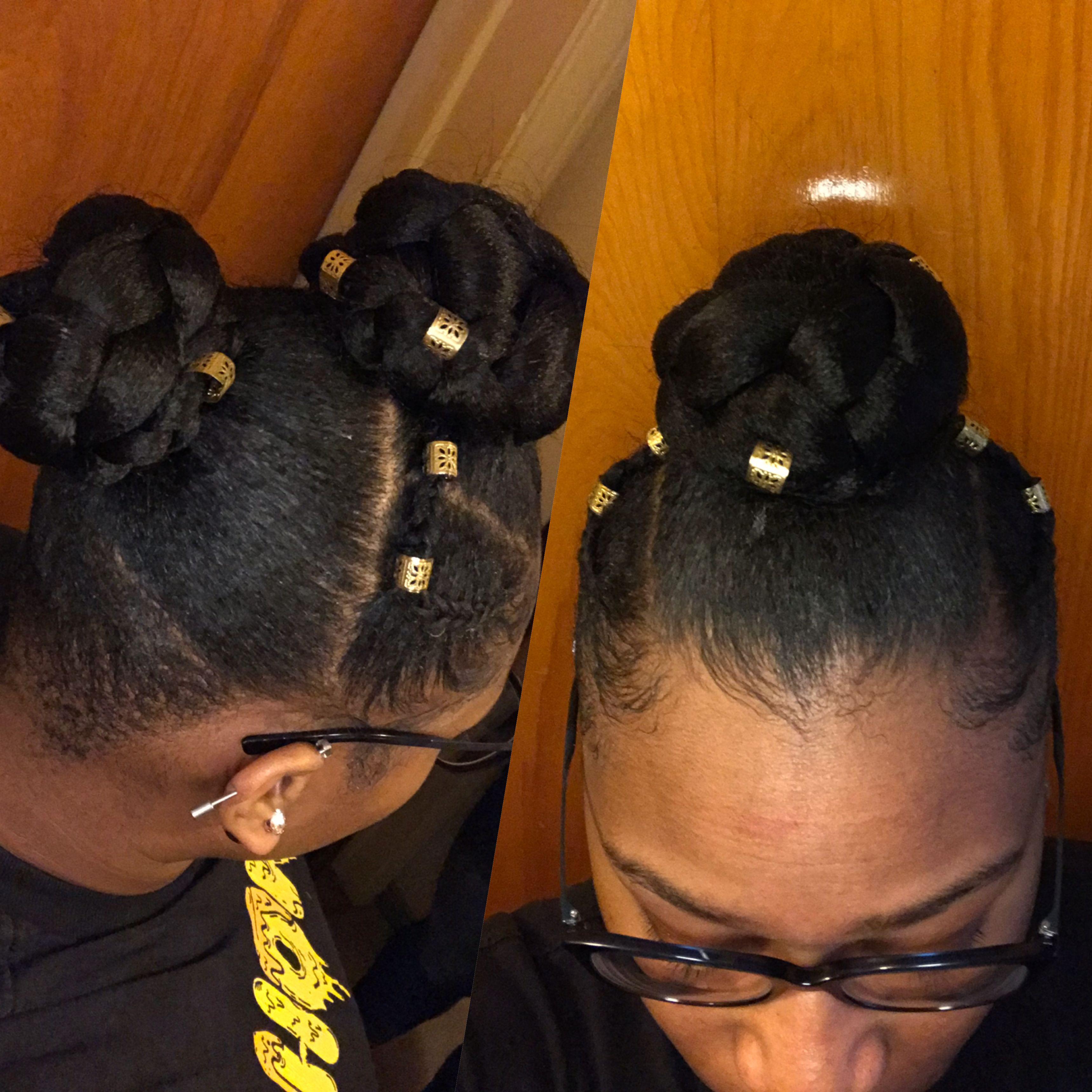 Natural Two Bun Hairstyle Easy 6steps Bun Hairstyles Easy Bun Hairstyles Two Buns Hairstyle