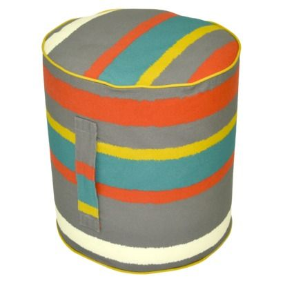 Threshold™ Outdoor Round Pouf Footstool Paper Stripe Warm At Magnificent Target Outdoor Pouf