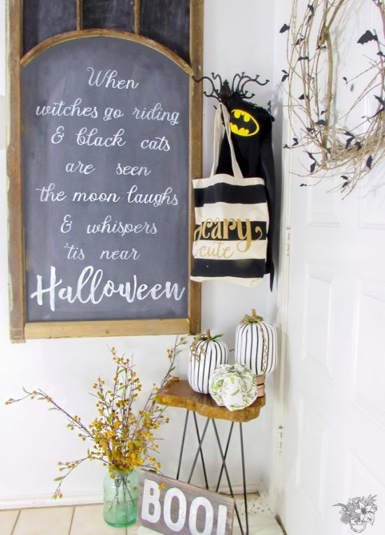 Creating A Classy Halloween Entry Classy halloween, Decor crafts - classy halloween decor