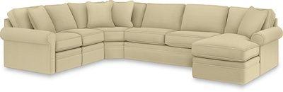 Collins Sectional By La Z Boy In Buckwheat Fabric La Z Boy Couch Furniture