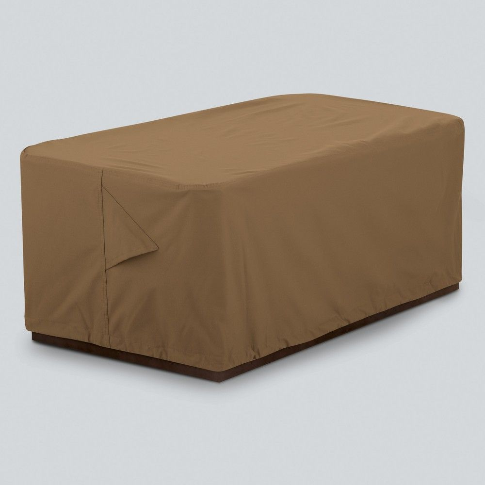 Rectangle Fire Pit Cover Tan