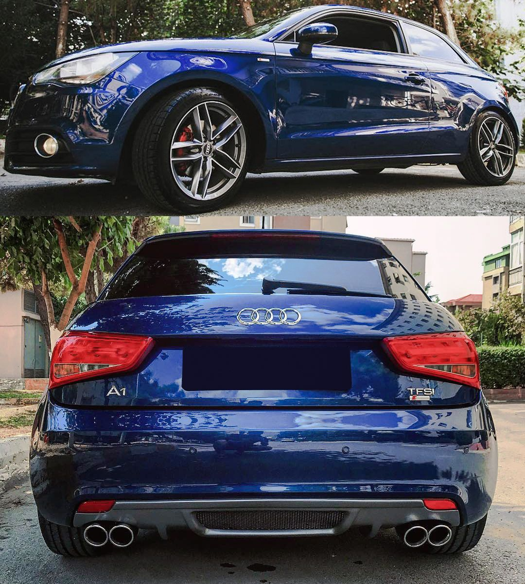 Blue Beauty Audi A1 Tfsi Dropped On Our Sport Suspension
