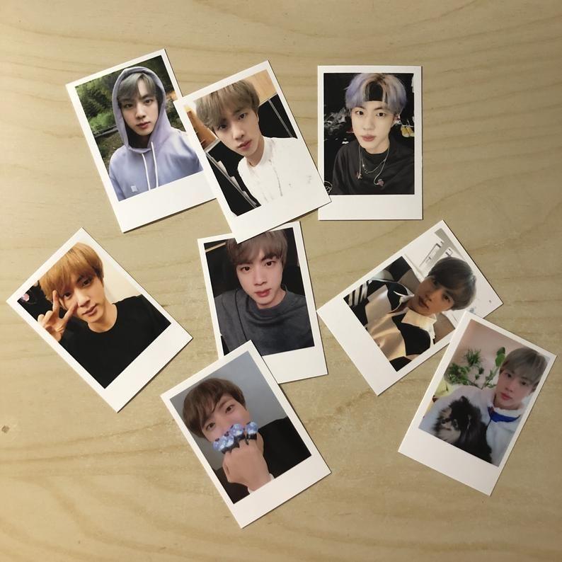 BTS Selca Mini Polaroids Photocards Set of 8 (per member) #btsselca BTS Selca Mini Polaroids Photocards Set of 8 per member | Etsy #btsselca