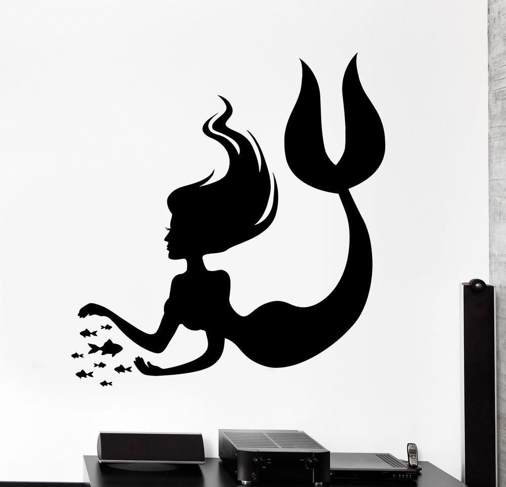 Details About Wall Decal Mermaid Marine Fish Undersea