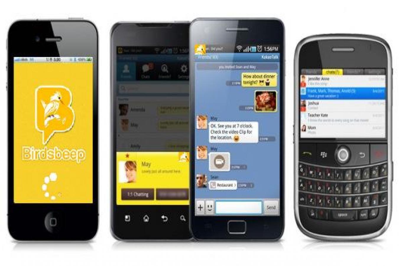 Mobile Phones Apps, Multiplatform Chatting Application