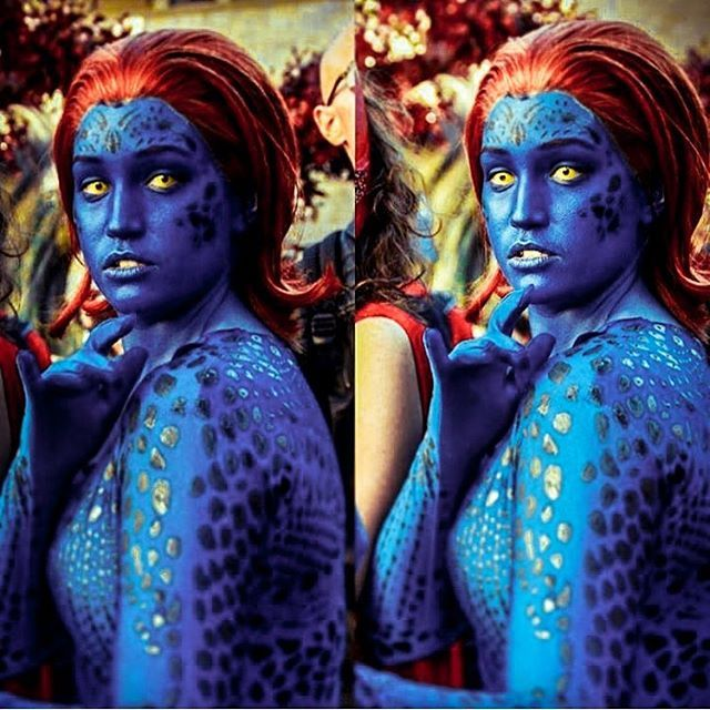 diy x men mystique halloween costume idea 4 - 2017 Men Halloween Costume Ideas