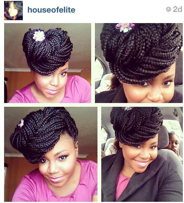Box braids pin up | Inspiration For My Hair a.k.a. Box Braids ...