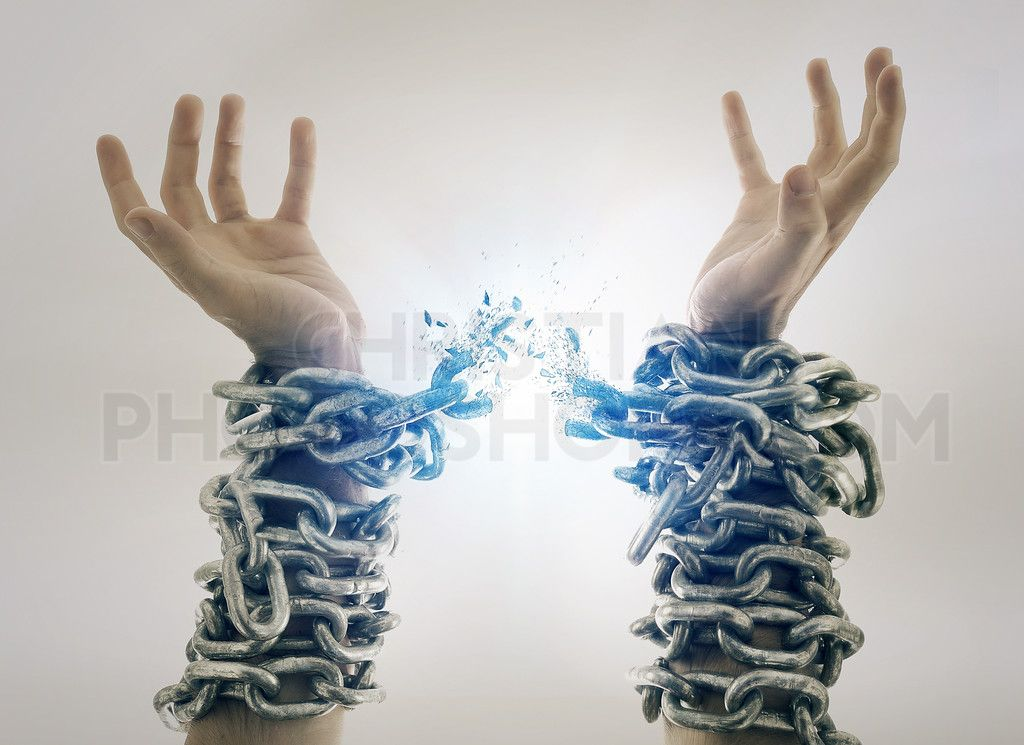 Broken Chains Prophetic Art Jesus Christian Art