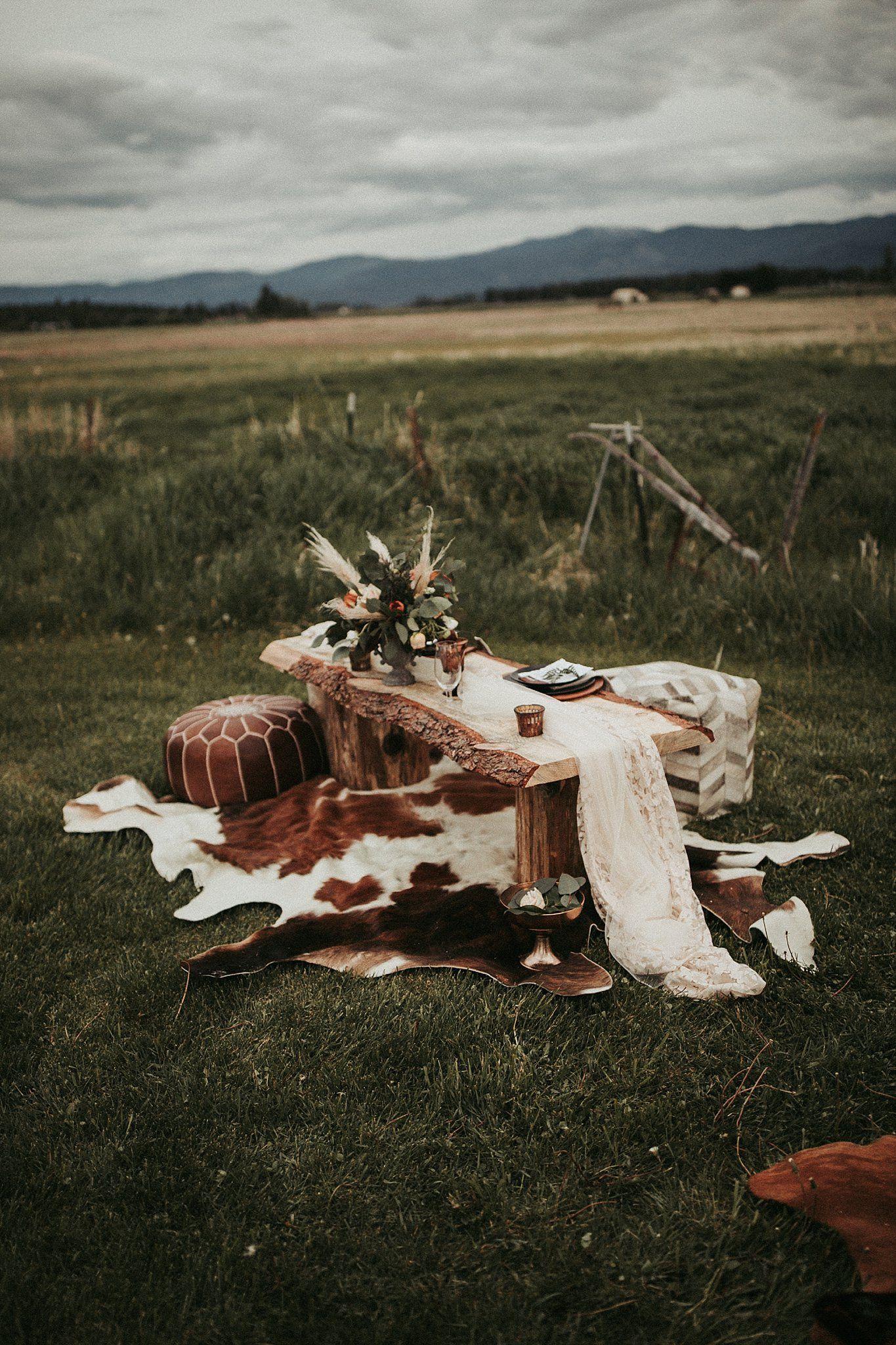 Montana Rustic Bohemian Styled Elopement | Montana Elopement Photographer