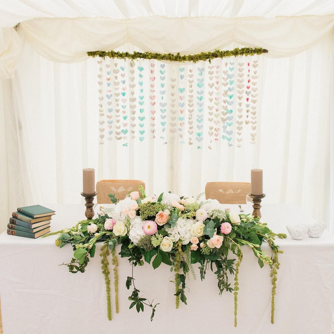 paeonyfloraldesignPastel peach colours for this sweetheart table link in bio for full details of this stunning wedding