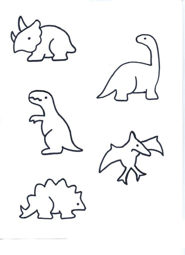 Small Dinosaur Coloring Pages Dinosaur Tattoos Cute