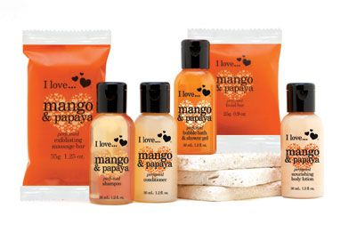 All rooms are equipped with I Love…Mango & Papaya Bath Amenities! #travel #Anaheim #Disneyland