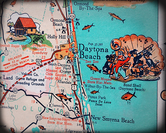 Daytona Beach New Smyrna Ormond By Retroseasdecor 25 00