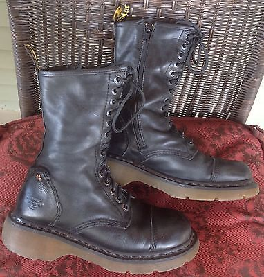 doc martens black combat boots