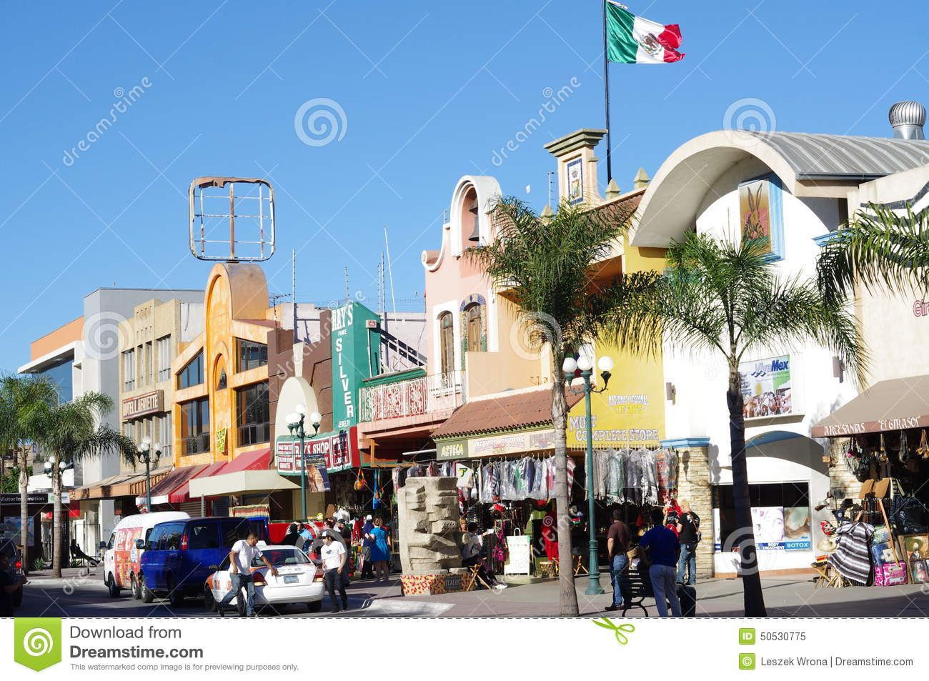Revolution Avenue is a tourist attraction notable for the visitors who are crossing the border daily from San Diego, California.