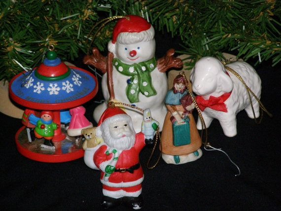 Vintage 1980s Lot of Christmas Ornaments Hallmark and by parkie2, $12.95