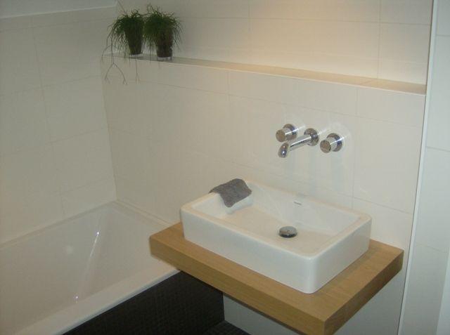 Wasbak op houten blad - mooi - Dag huis! | Pinterest - Badkamer ...