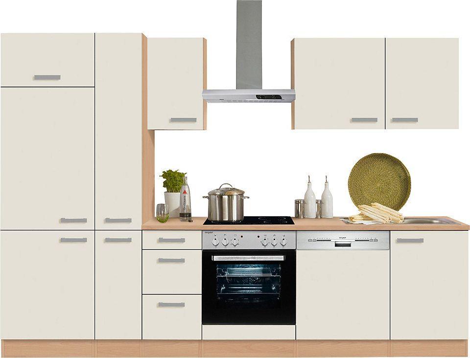 Optifit Küchenzeile mit E-Geräten »Odense« , Breite 300 cm Jetzt - küchenzeile 240 cm mit geräten