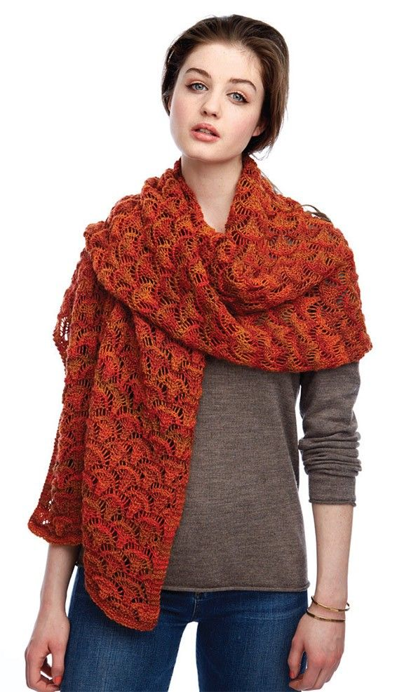 Knit This Wrap Using Patons Kroy Sock Yarn Free Patterns