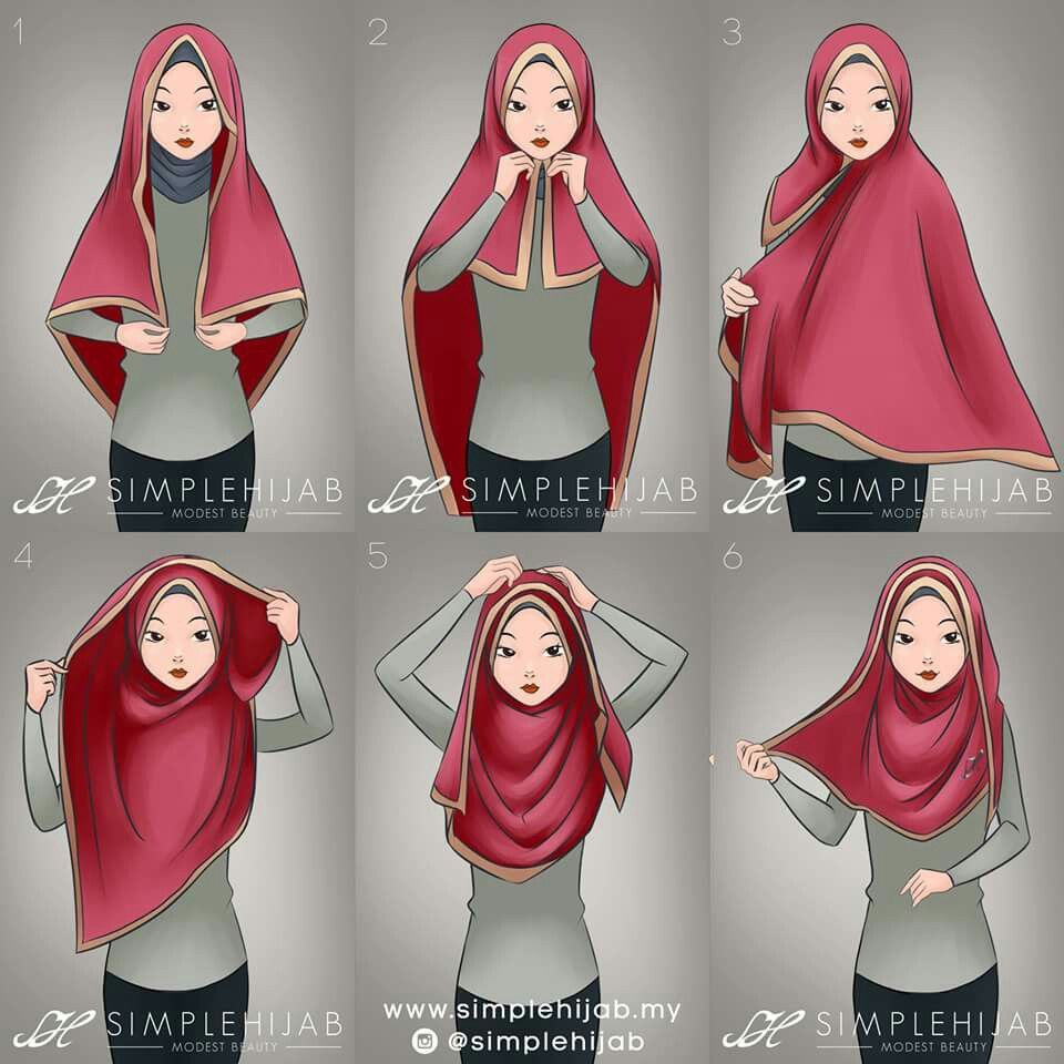 Square Hijab Tutorial Most Useful With A Wide Square Hijab Or A