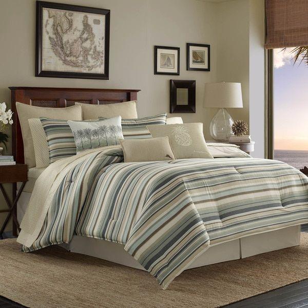Tommy Bahama Canvas Stripe Comforter Set by Tommy Bahama Tommy