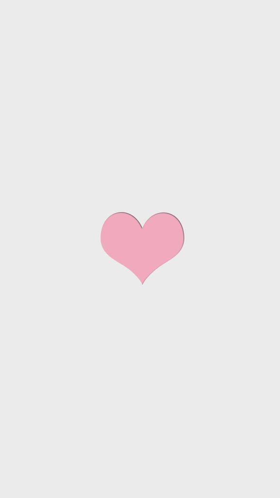 Minimal Grey Pink Heart Iphone Phone Wallpaper Background Lock Screen Wallpaper Iphone Cute Phone Wallpaper Pink Heart