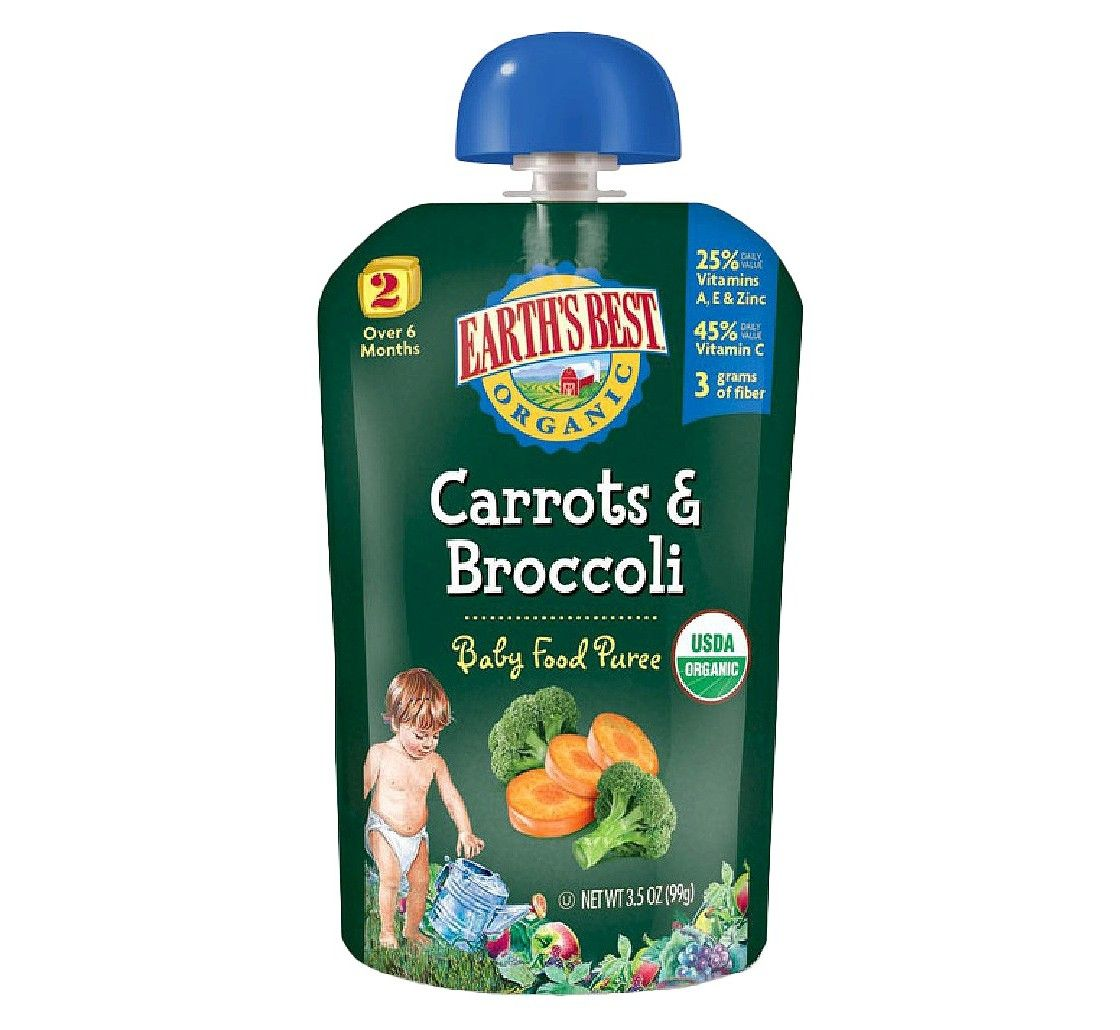 Earths best baby food pouch carrots baby broccoli