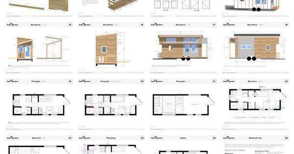 Tiny House Floor Plans Blueprint Construction Pdf For