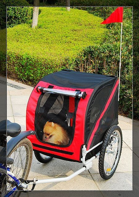 OUR NEW RIDE Pet bike trailer, Dog bike trailer