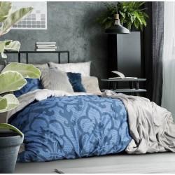 Posciel Satynowa 200x220 Dori Srebrno Granatowa Elegance Eurofirany Furniture Home Home Decor