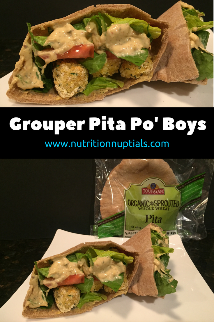 #Ad Put a twist on tradition with these Grouper Pita Po' Boys
