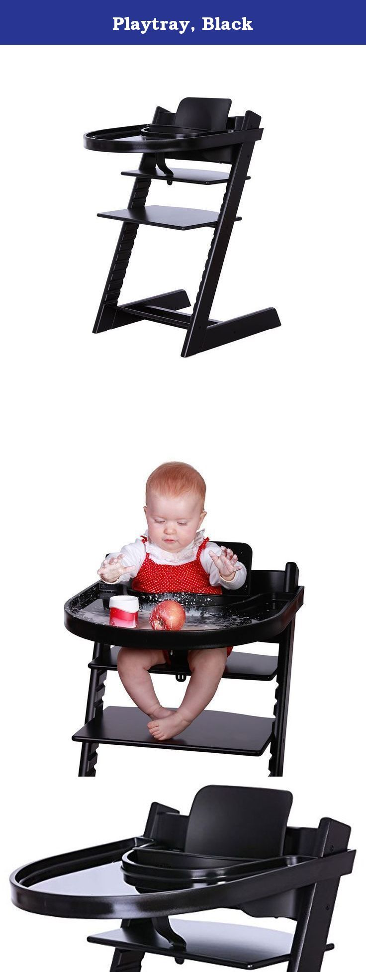Playtray, Black. Play tray is a tray designed for the stokke tripp trapp chair. Play tray can be used when eating, playing and drawing and makes life easier for the child as well as its parents.