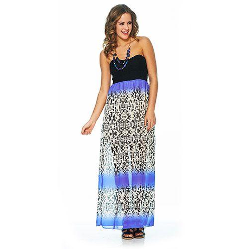 Juniors Trixxi Printed Chiffon Maxi Dress | Trixxi Dresses ...