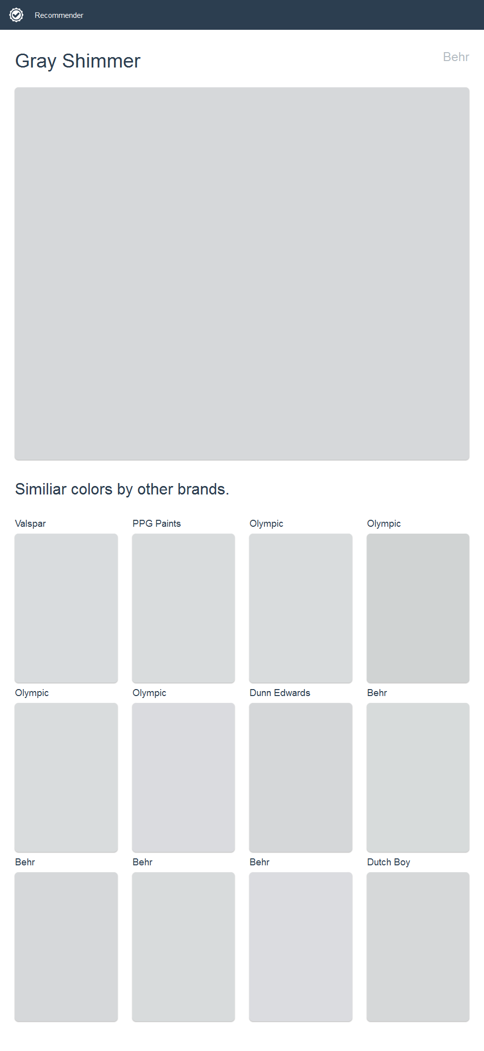 Gray Shimmer Behr Google Search Paint Color Pinterest