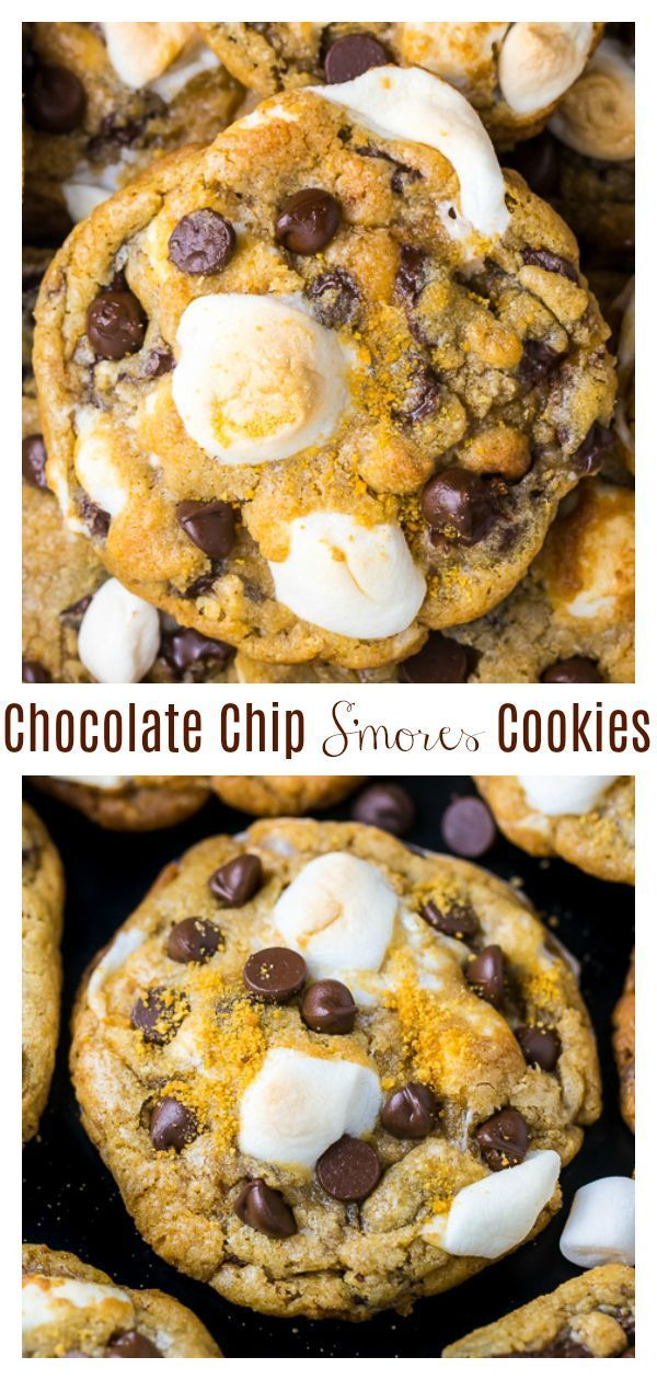 S'mores Chocolate Chip Cookies – Baker by Nature