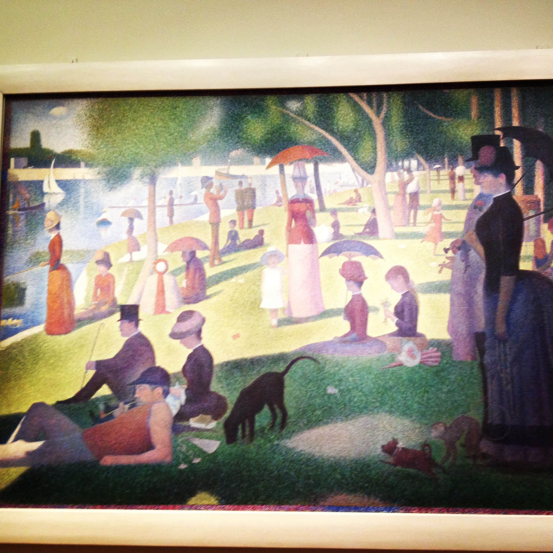 Art institute of chicago seurat paintings jatte la