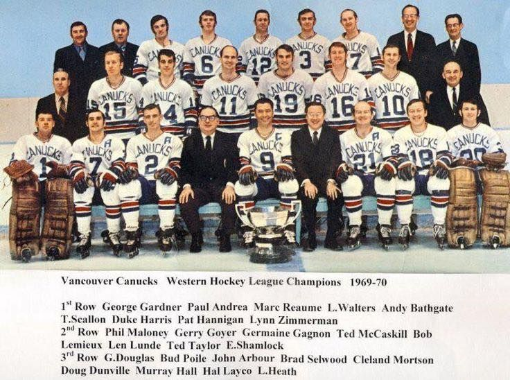 The 1969 70 Vancouver Canucks Of The Western Hockey League The Year