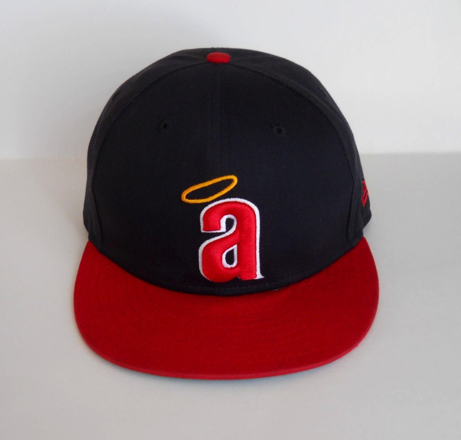7183f695 Anaheim California Angels New Era Cooperstown Halo MLB Snapback Hat ...