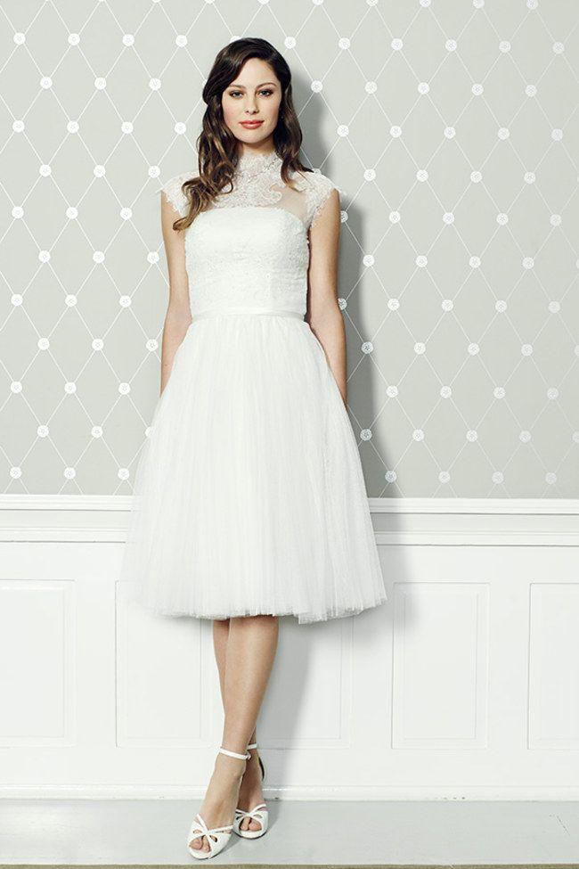 Nicht nur für freche Bräute: Kurze Brautkleider zum Verlieben ...