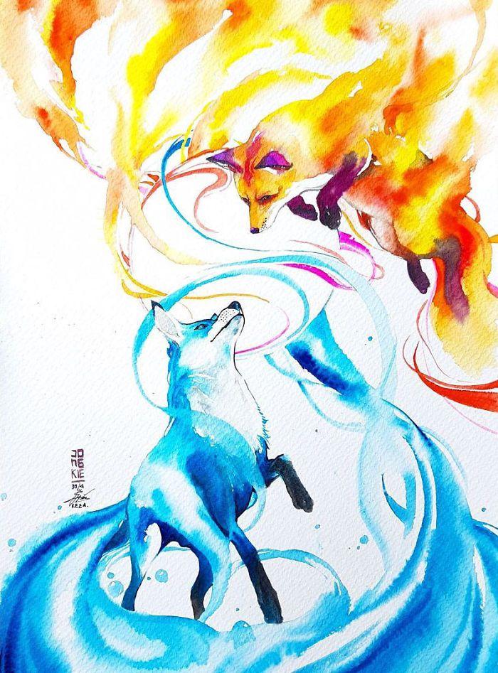 L'Esprit des Animaux à l'Aquarelle