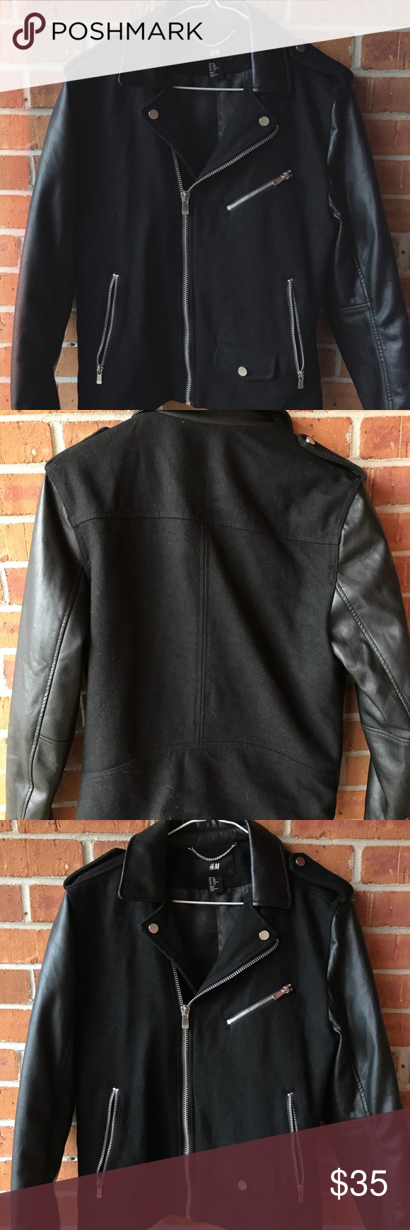 H&M Biker/Motorcycle Jacket The jacket is a men's 36R, and