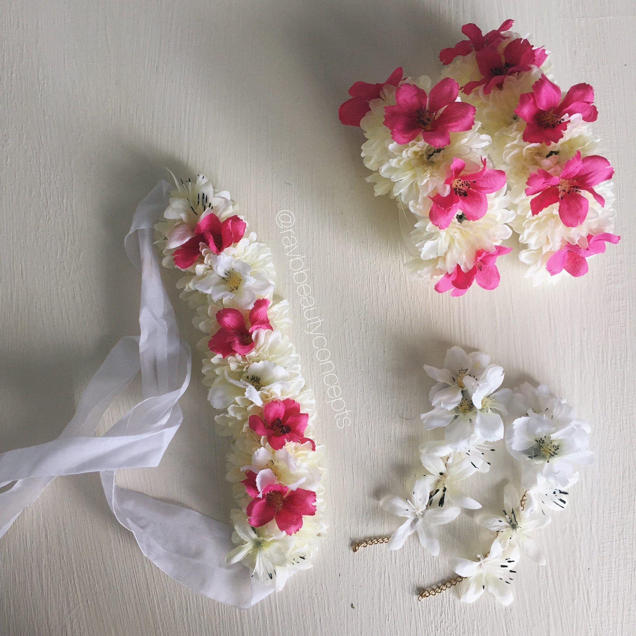 by: RAV B BEAUTY // floral jewellery, holud, holud jewellery ...