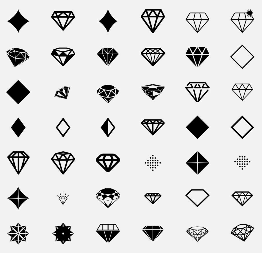 Diamond Icons On Thenounproject Etc Pinterest Icons Diamond