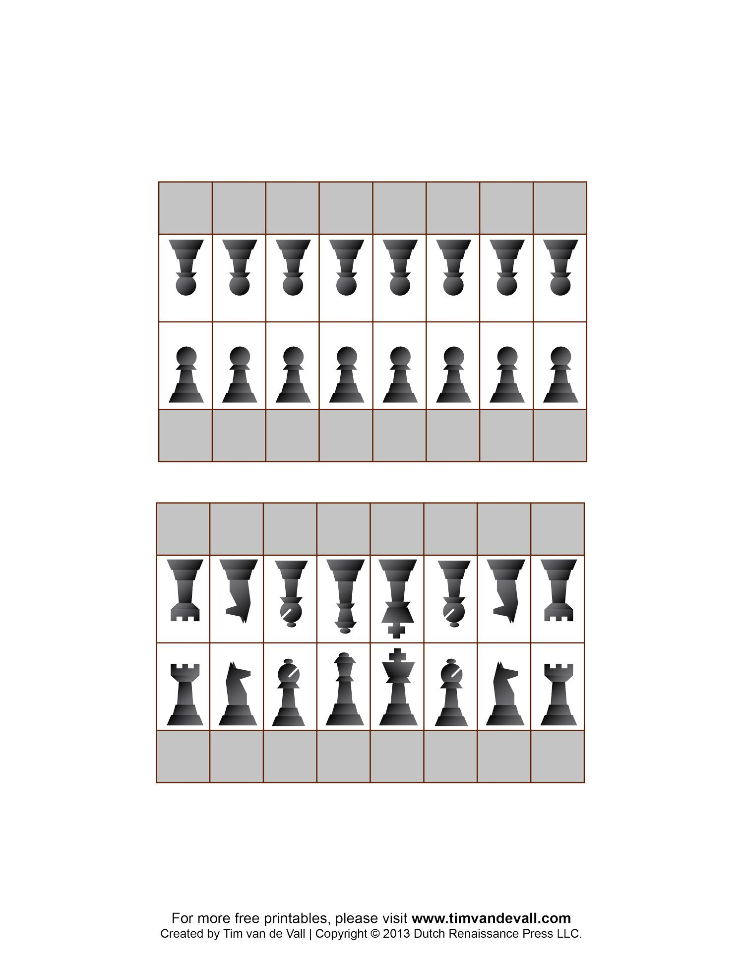 Free Printable Chess Pieces. To use for flashcards: name ...