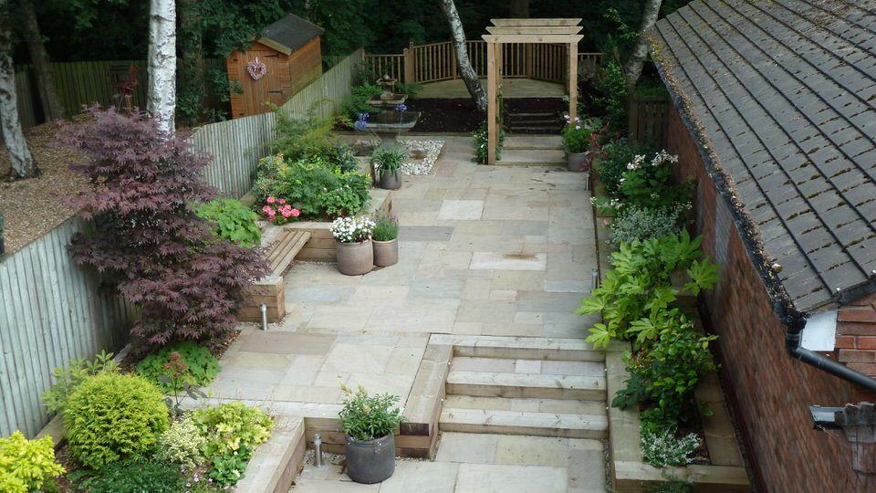 Town Garden Nr Manchester Designed And Built By Saul Co Www Saulco Co Uk Garden Design Garden Styles Patio